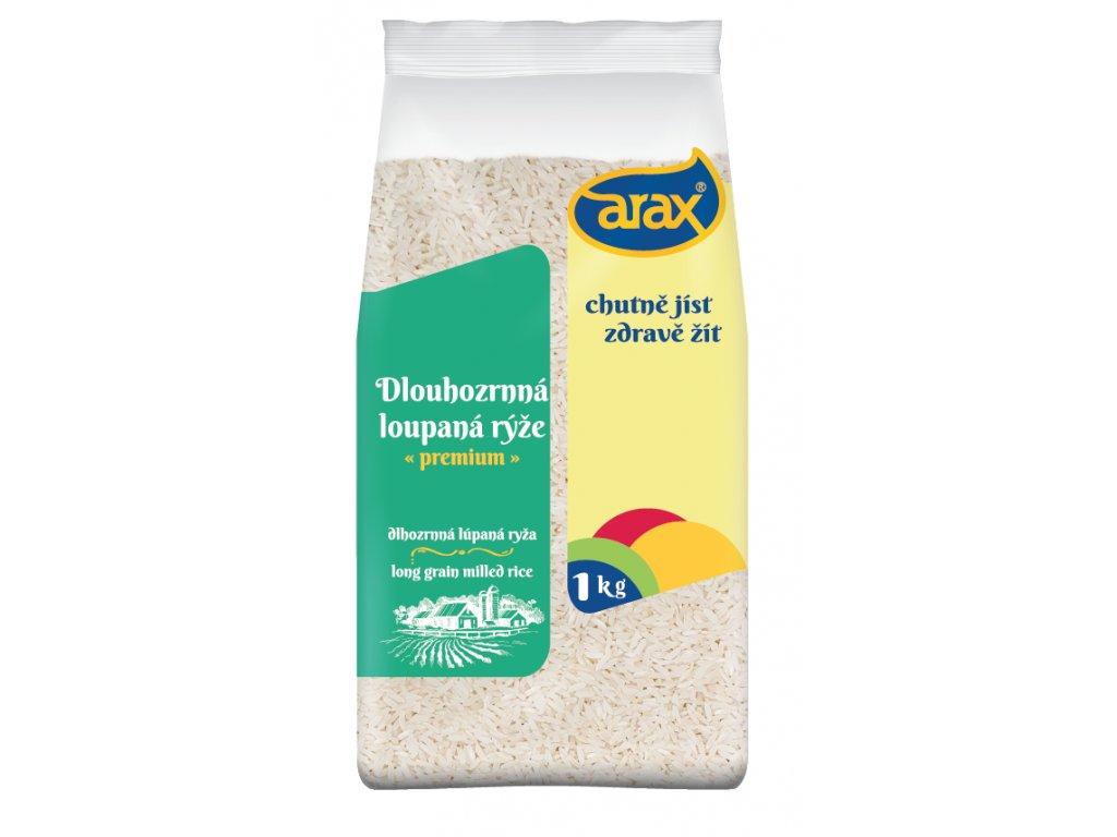 ARAX Rýže dlouhozrnná loupaná 1kg 3Dv1