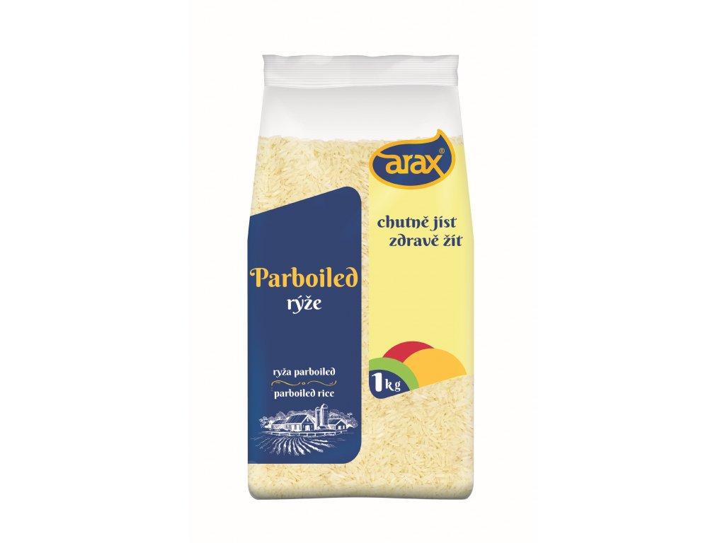 ARAX Rýže dlouhozrnná parboiled 1kg 3Dv1