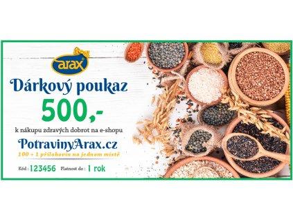 Darkovy poukaz UNI 2020 PotravinyArax.cz 500Kč