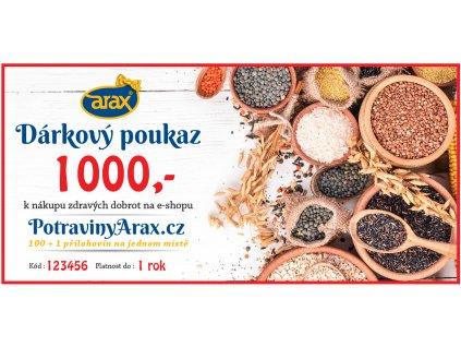 Darkovy poukaz UNI 2020 PotravinyArax.cz 1000Kč