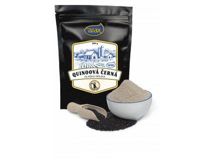 Mouka quinoová černá hladká nat. 300g ARAX