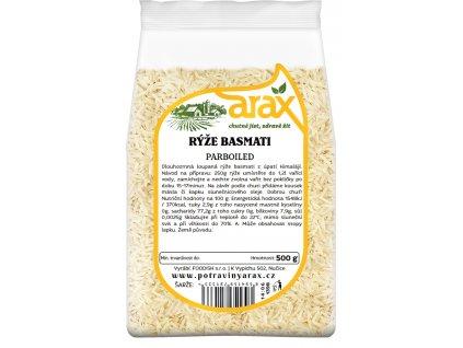 Rýže dlouhozrnná basmati parboiled