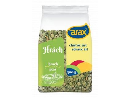 ARAX Hrách zelený loupaný půlený 500g 3Dv1