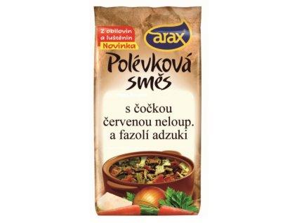 Polévková směs s čočkou červenou neloupanou a fazolí adzuki