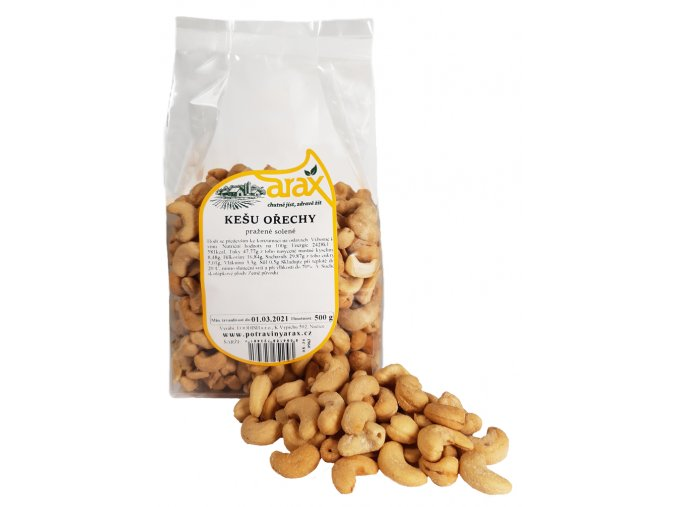 ARAX Kešu ořechy pražené solené 500g small