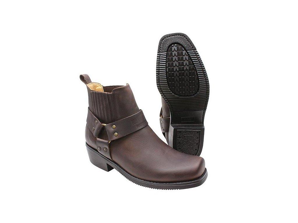 Boty westernové koně Jonny Bulls nízké pracovní hnědé (velikost bot 46) cb722c8c4c