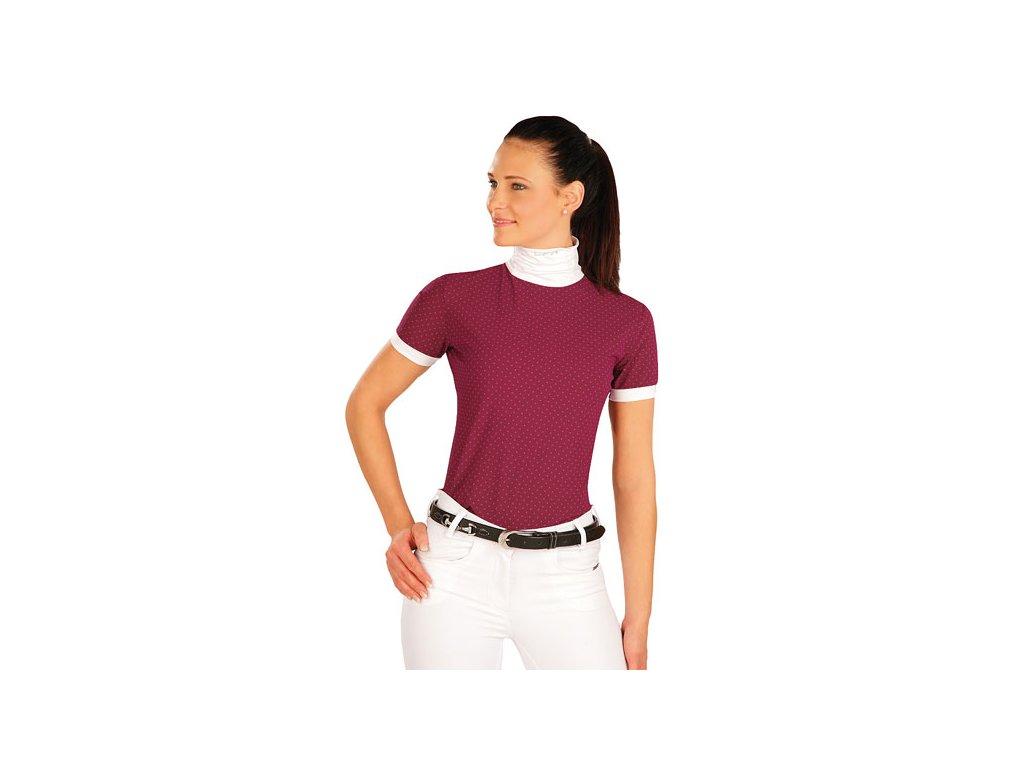 Velmi slušivé jezdecké triko vhodné na závody. S bílým stojáčkem f7ab855886