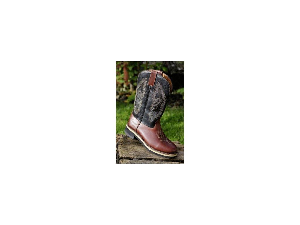 2bd3fe615 Westernové boty Softy Cow (Barva tm.hnědá, velikost bot 46)