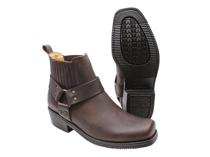 Boty westernové koně Jonny Bulls nízké pracovní hnědé (velikost bot 46)