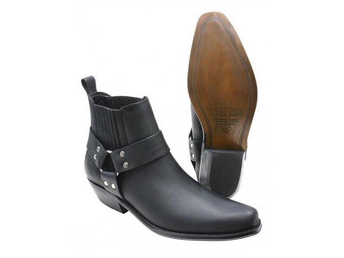Boty westernové koně Jonny Bulls nízké černé (velikost bot 46)
