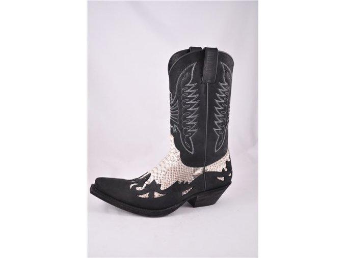 Westernové koně boty Mayura černé (velikost bot 44)