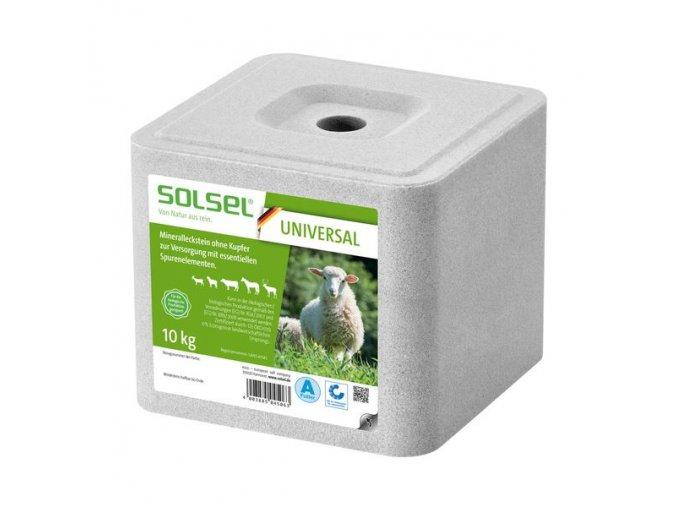 solny mineralni liz solsel universal bez medi pro ovce kozy kone dobytek a zver 10 kg