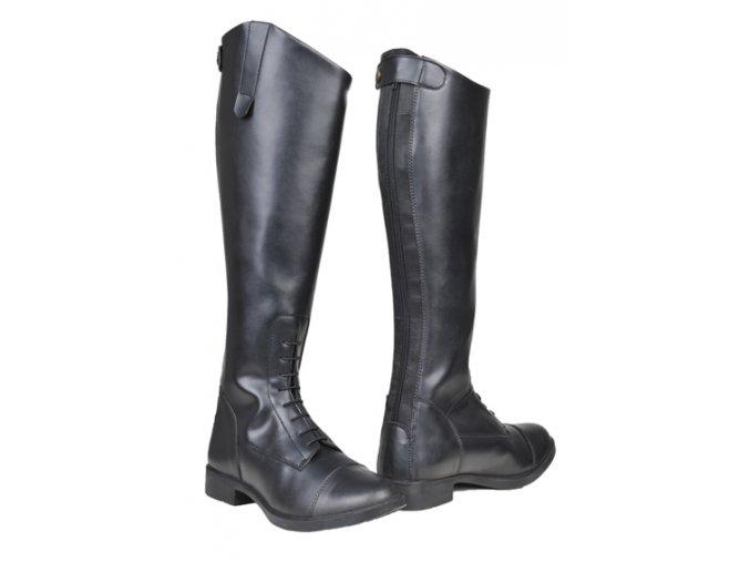 Jezdecké boty vysoké dámské - dlouhá holeň (Barva černá, velikost bot 42)