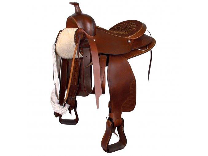 """Westernové sedlo na široké koně 16"""""""
