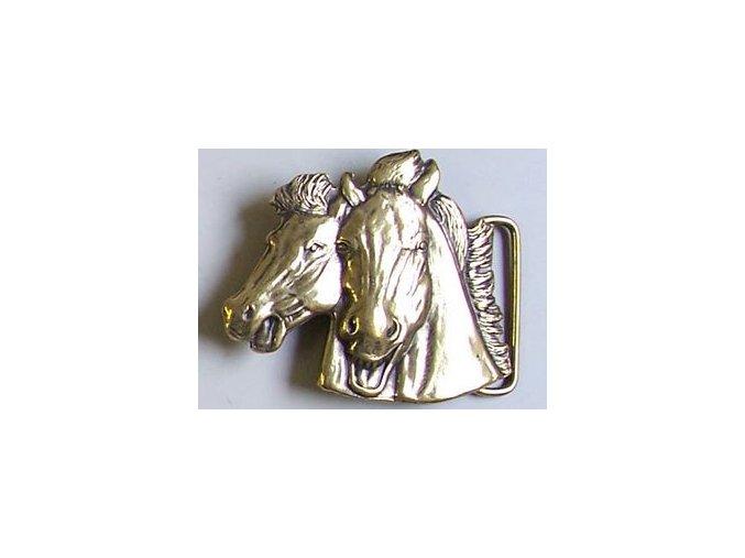 Westernová přezka na opasek hlavy koní (Barva zlatá)