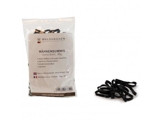 Gumičky do hřívy silikonové (Barva černá)