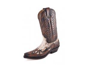Westernové koně boty Mayura hnědé