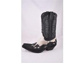 Westernové koně boty Mayura černé