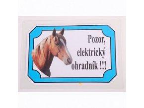 Výstražná cedulka koně