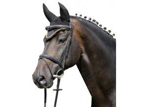 Čabraka HKM Černá se zlatým lemem (Velikost pony)