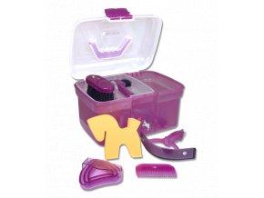 Dětský box na čištění s vybavením Unicorn fialový