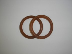 Kroužky do bezpečnostních třmenů - guma - pár