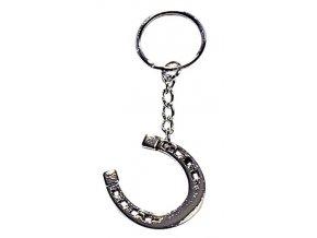 Přívěsek na klíče podkova