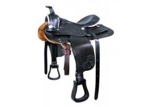 """Westernové sedlo """"Basket"""" Pony (Barva sv.hnědá, délka posedlí 12"""")"""