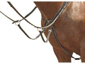 Poprsník elastický HKM (Barva hnědá, Velikost pony)