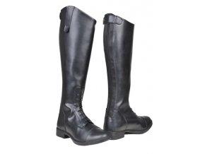 Jezdecké boty vysoké dámské - širší lýtko (Barva černá, velikost bot 42)