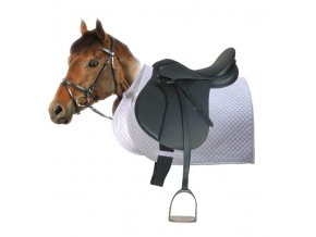 """Sedlo - jezdecký komplet Pony (Barva sv. fialová, délka 90 cm, délka posedlí 15"""")"""