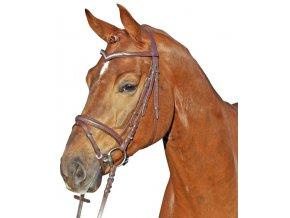 Uzdečka HKM Marie (Barva hnědá, Velikost pony)