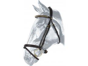 Uzdečka Kentaur skoková (Barva tm.hnědá, Velikost full)