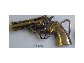 Westernová přezka na opasek revolver