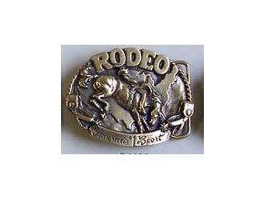 Westernová přezka na opasek Rodeo (Barva zlatá)