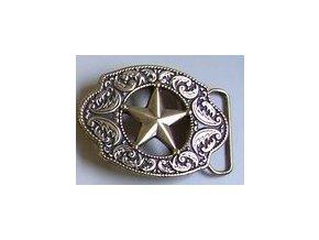 Westernová přezka na opasek hvězda