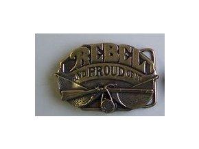 Westernová přezka na opasek Rebel (Barva zlatá)