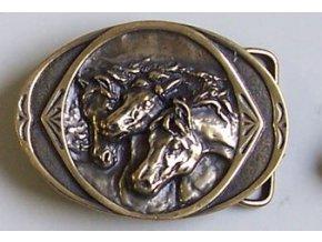 Westernová přezka na opasek tři koně