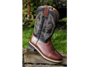 Westernové boty Softy Cow (Barva tm.hnědá, velikost bot 46)