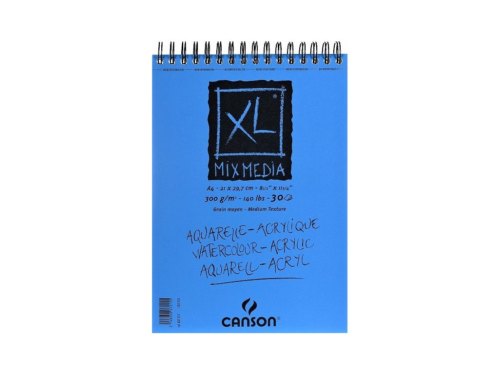 5747 canson xl mix media skicak a4 300g 30 listu