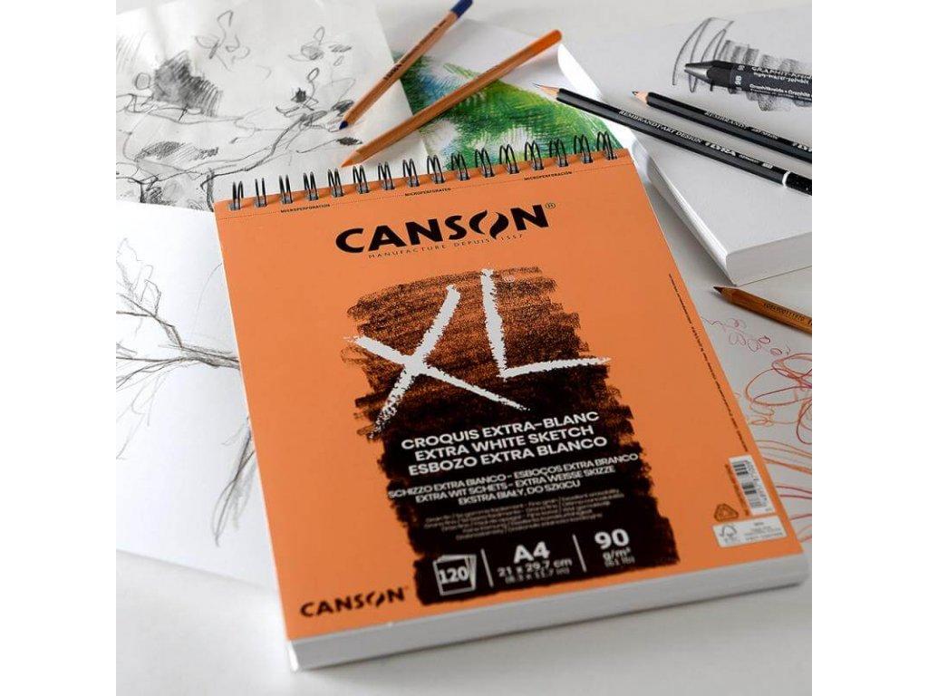 5738 canson xl skicak extra bily a4 90 g m2 120 listu