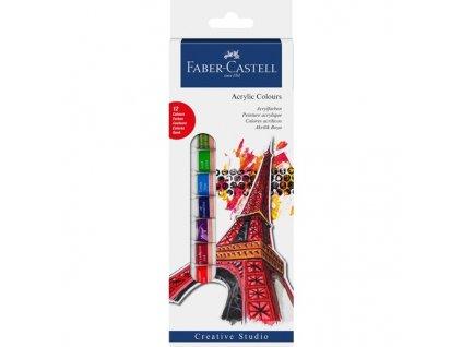 4601 akrylove barvy 12x12ml faber castell 169501