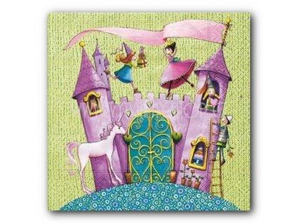 6065 ubrousek trivrstvy 33 x 33 cm princess castle