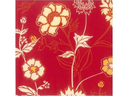 55878 ubrousek 33 x 33 cm kvetiny