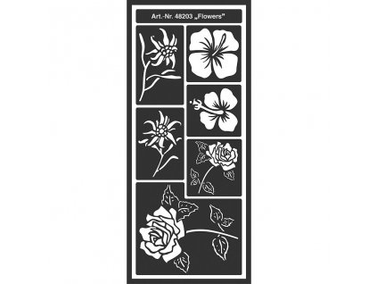 55914 samolepici flex sablona kreul kvetiny