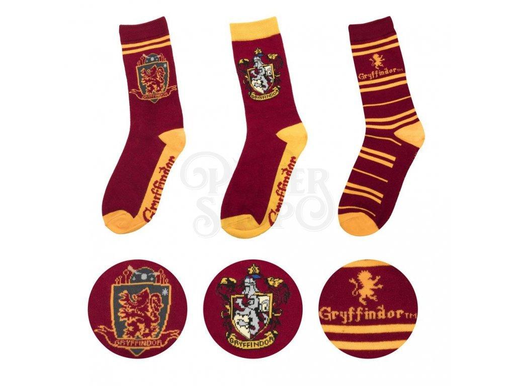 29186 harry potter socks 3 pack gryffindor cinereplicas