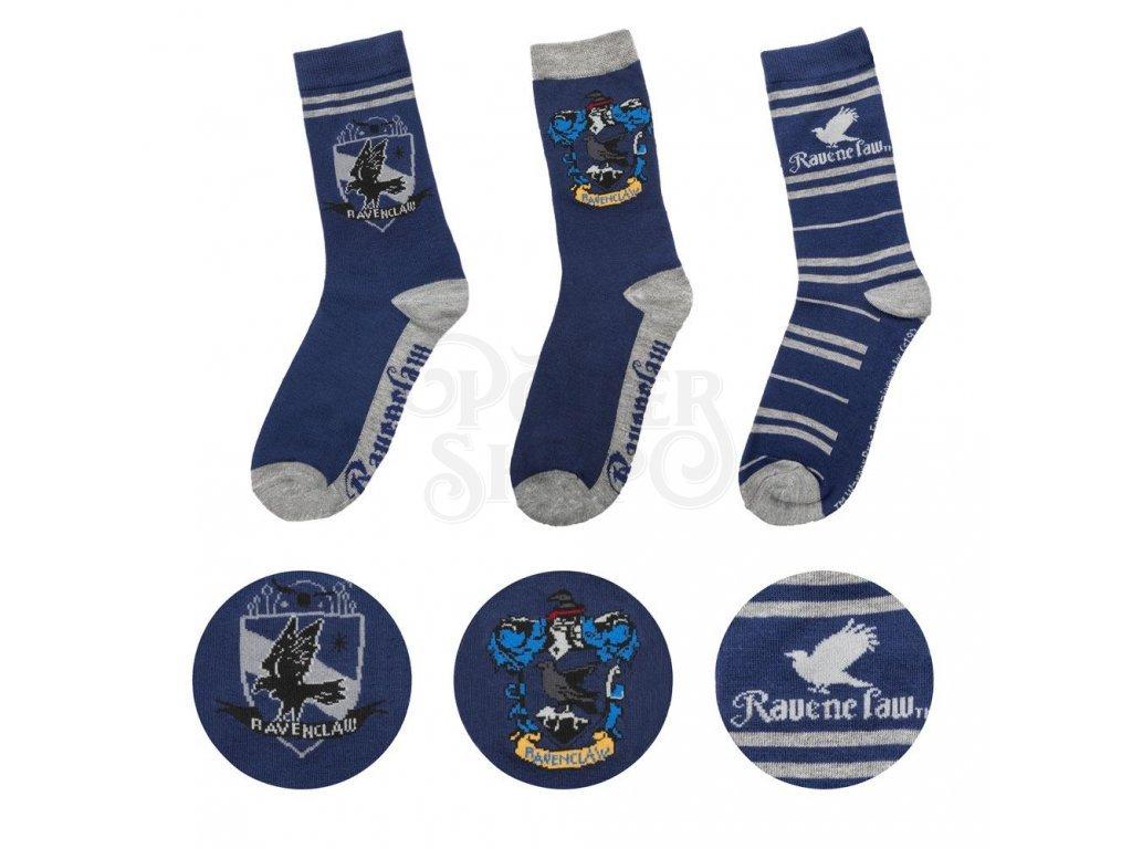 29177 harry potter socks 3 pack ravenclaw cinereplicas