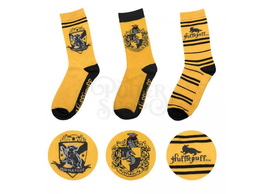 29183 harry potter socks 3 pack hufflepuff cinereplicas