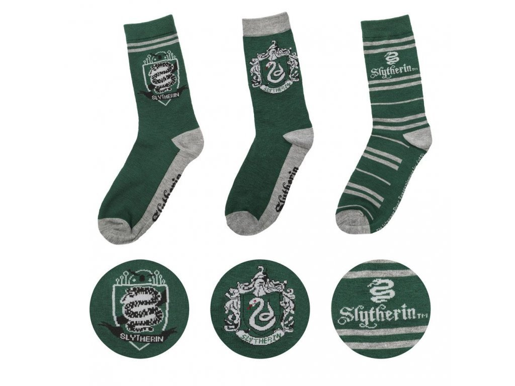 29180 harry potter socks 3 pack slytherin cinereplicas