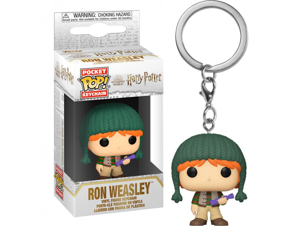 Harry Potter Pocket POP! Vinyl Klíčenka Ron Weasley s čepicí